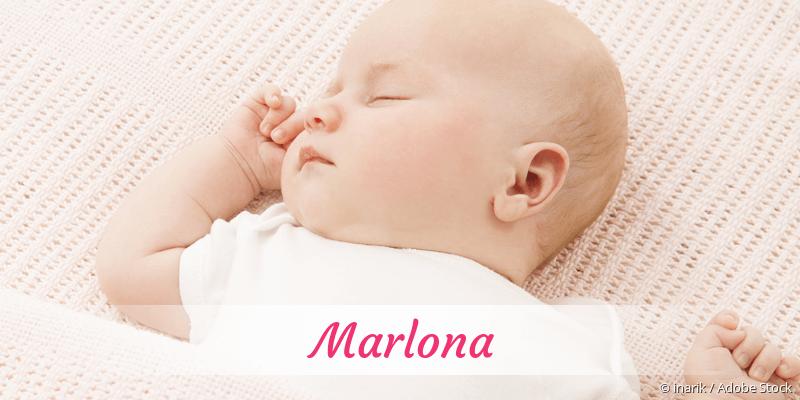 Name Marlona als Bild
