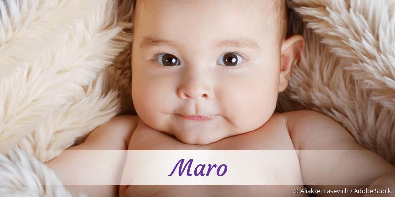 Name Maro als Bild