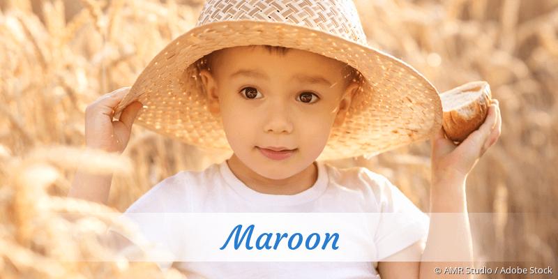Name Maroon als Bild