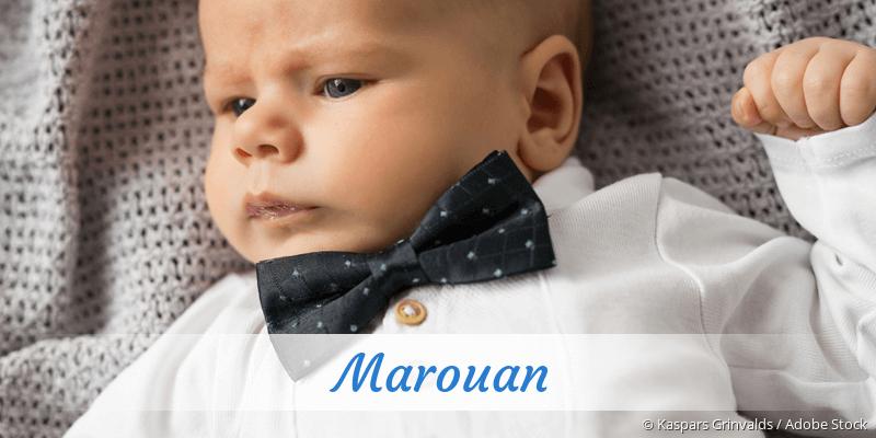 Name Marouan als Bild
