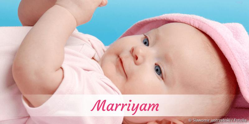 Name Marriyam als Bild