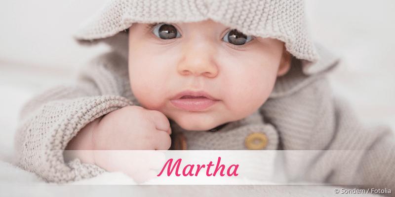 Name Martha als Bild