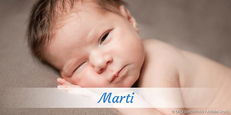 Name Marti als Bild