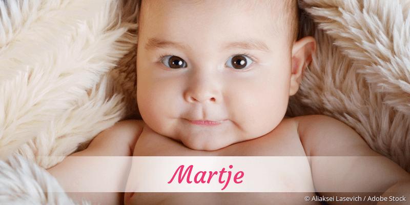Name Martje als Bild