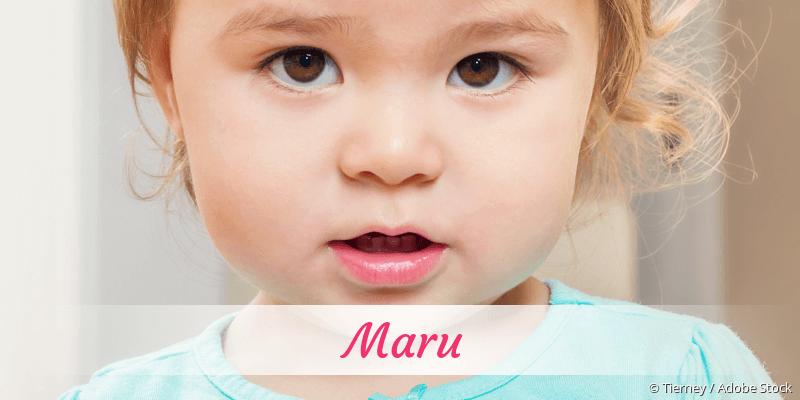 Name Maru als Bild