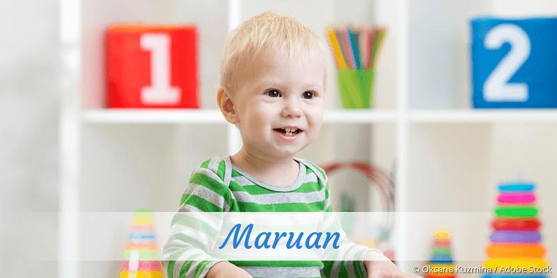 Name Maruan als Bild
