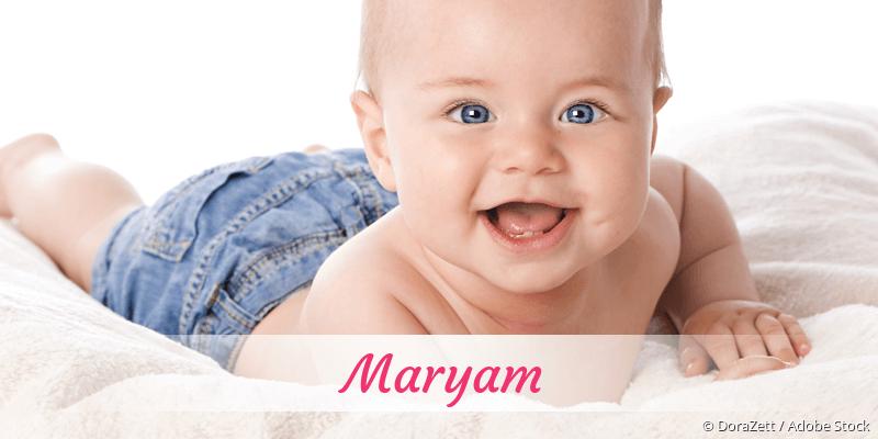 Name Maryam als Bild
