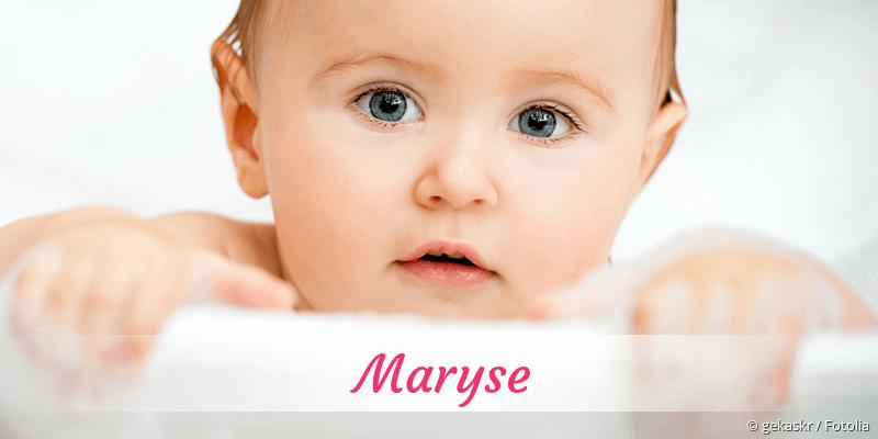 Name Maryse als Bild