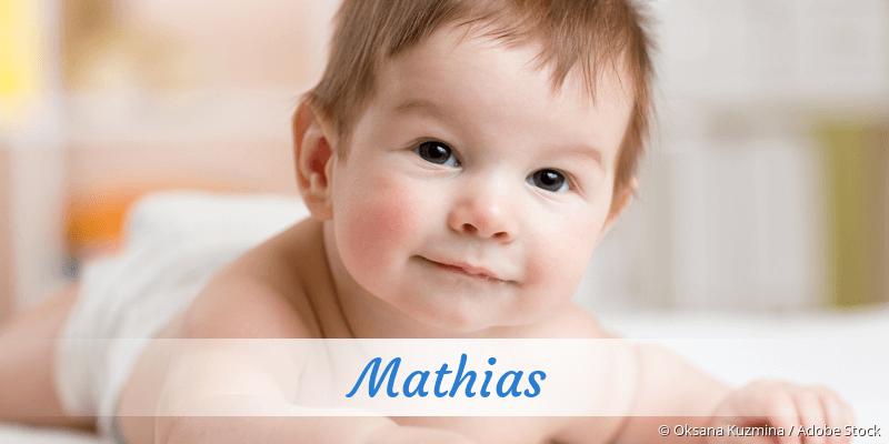 Name Mathias als Bild