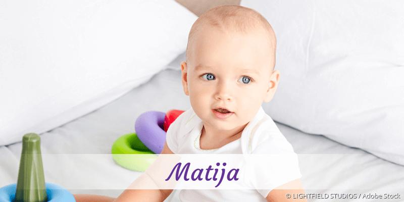 Name Matija als Bild