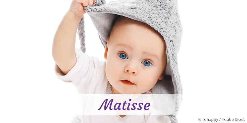 Name Matisse als Bild