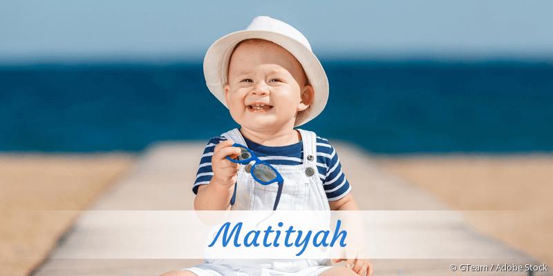 Name Matityah als Bild