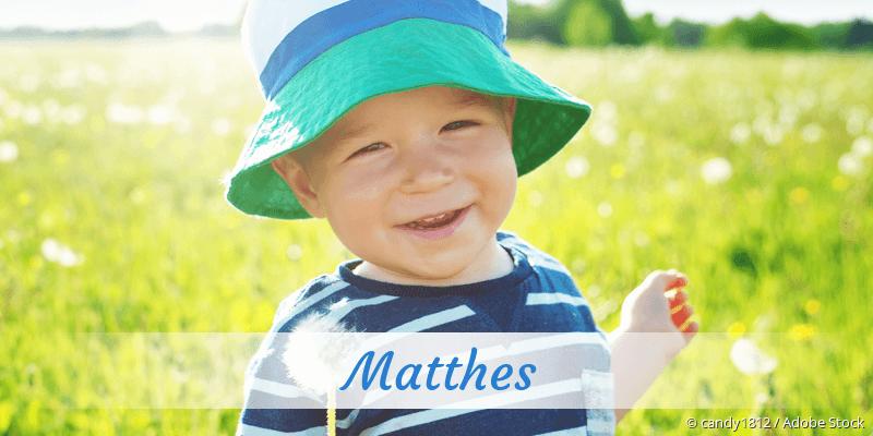 Name Matthes als Bild