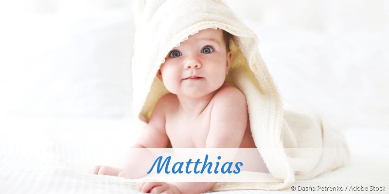 Name Matthias als Bild