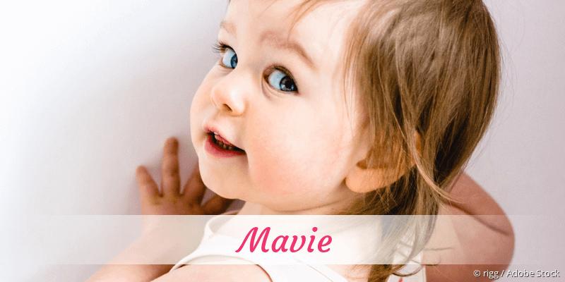Name Mavie als Bild
