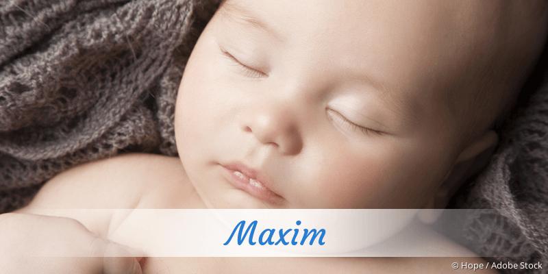 Name Maxim als Bild