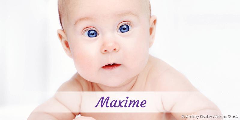 Name Maxime als Bild