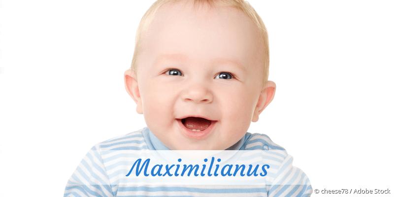 Name Maximilianus als Bild