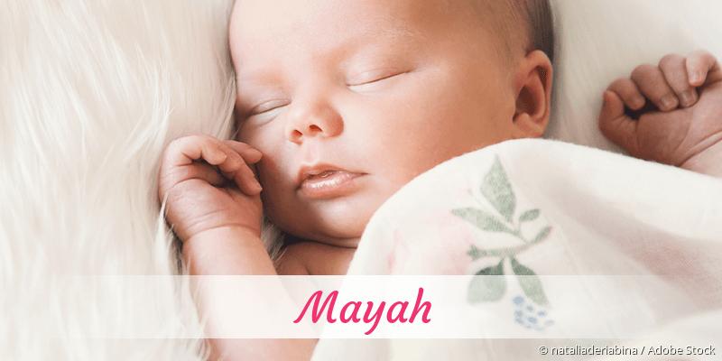 Name Mayah als Bild