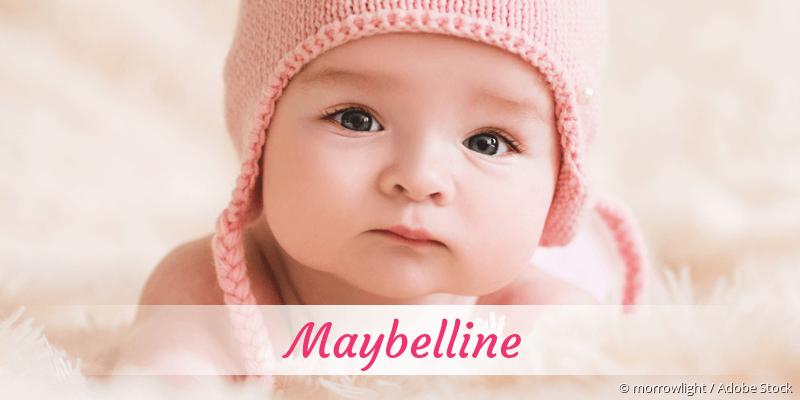 Name Maybelline als Bild