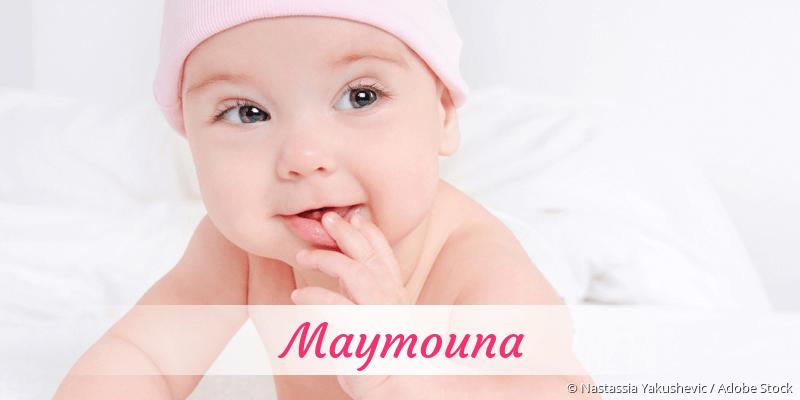 Name Maymouna als Bild