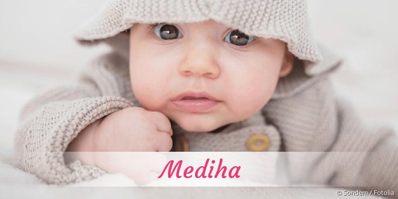 Name Mediha als Bild