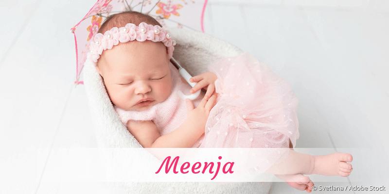 Name Meenja als Bild