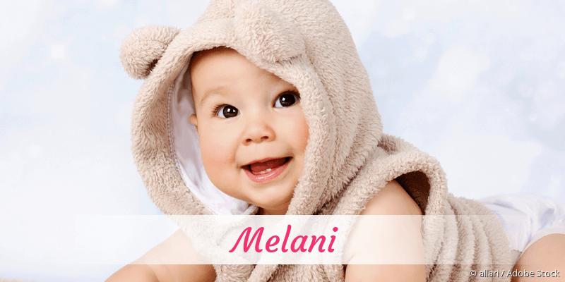 Name Melani als Bild