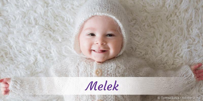 Name Melek als Bild