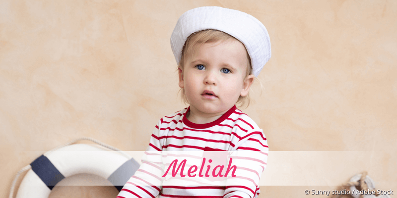 Name Meliah als Bild