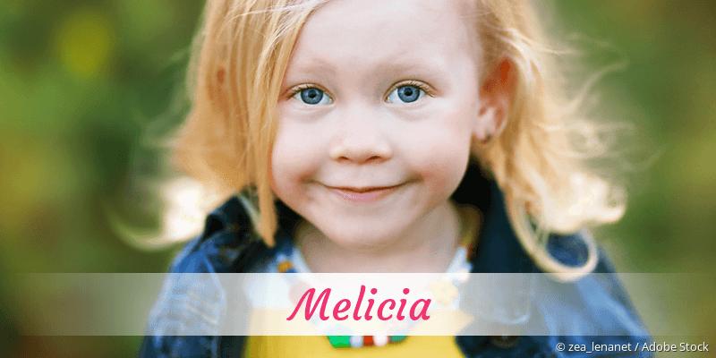 Name Melicia als Bild
