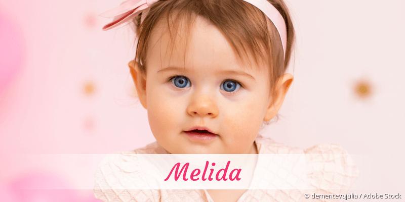 Name Melida als Bild