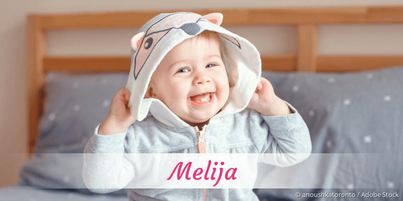Name Melija als Bild