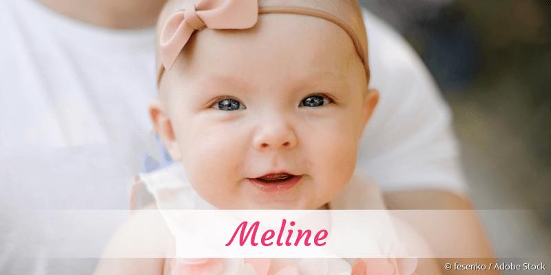 Name Meline als Bild