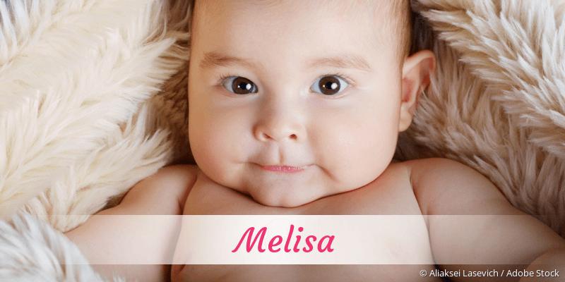 Name Melisa als Bild