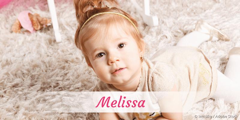 Name Melissa als Bild