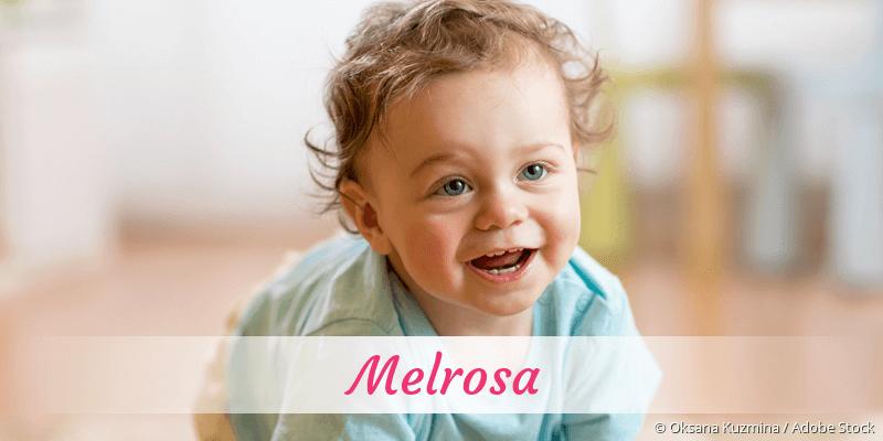 Name Melrosa als Bild