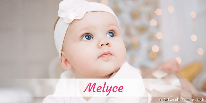 Name Melyce als Bild