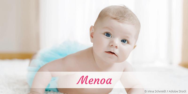 Name Menoa als Bild