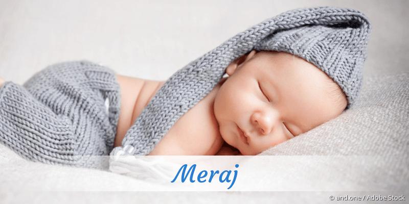 Name Meraj als Bild