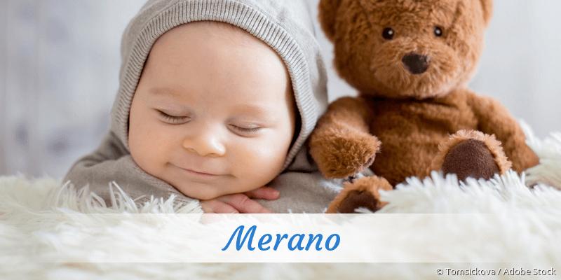 Name Merano als Bild