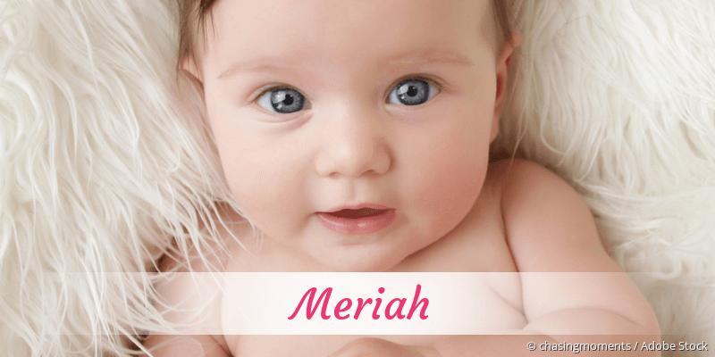 Name Meriah als Bild