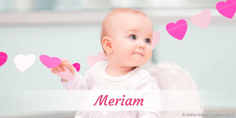 Name Meriam als Bild