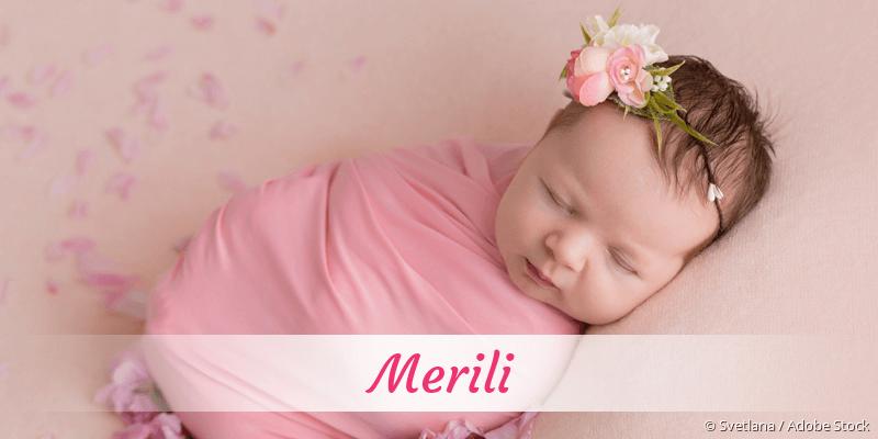 Name Merili als Bild