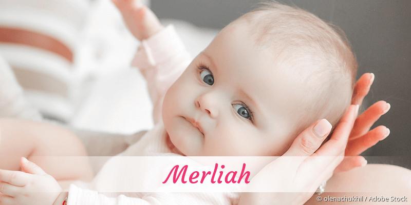 Name Merliah als Bild