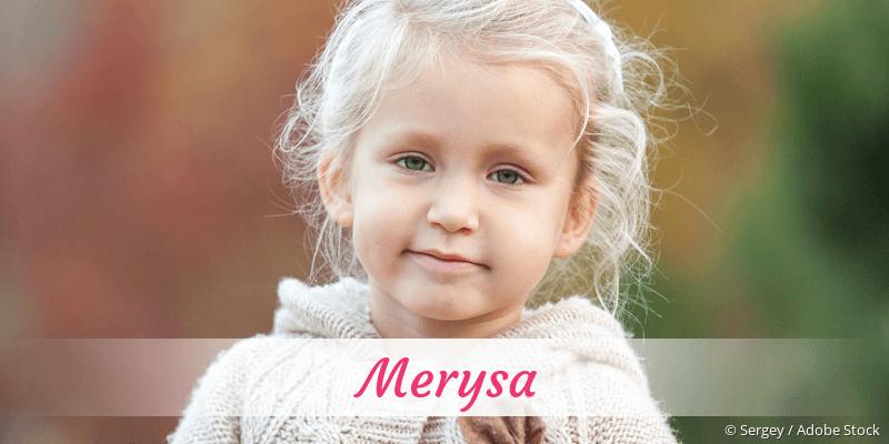 Name Merysa als Bild