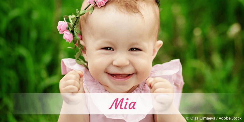 Name Mia als Bild