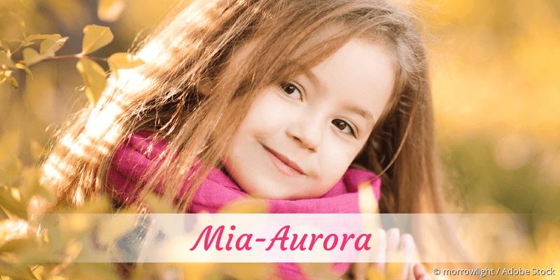 Name Mia-Aurora als Bild