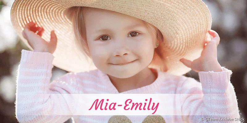 Name Mia-Emily als Bild