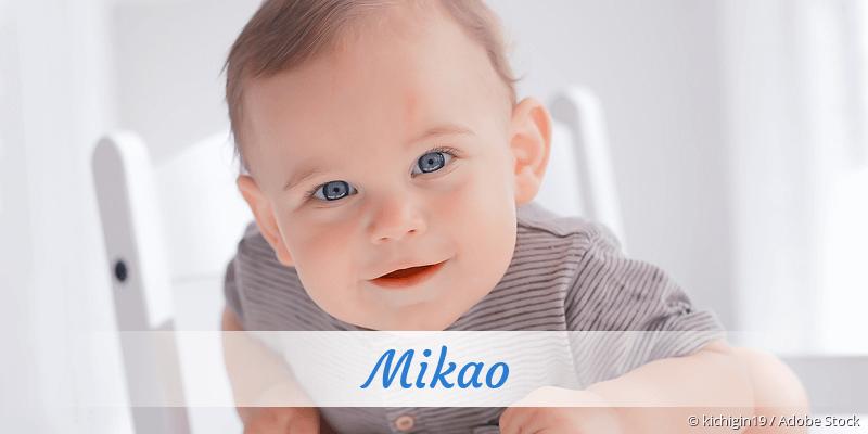 Name Mikao als Bild
